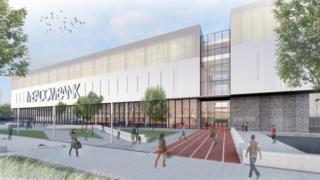 New Meadowbank Stadium main entrance design
