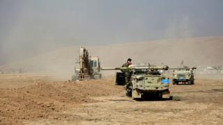 Tanques en Mosul
