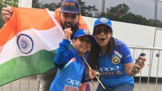 साउथेम्पटनमध्ये आलेले भारतीय क्रिकेट चाहते
