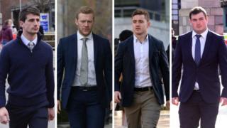 Blane McIlroy; Stuart Olding; Paddy Jackson; Rory Harrison