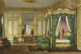 Queen Victoria's bedroom at Saint-Cloud by Jean-Baptiste van Moer