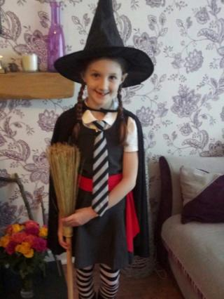 Lucy loves The Worst Witch books and TV series. Her favourite character is Mildred Hubble, who she has dressed up as for World Book Day!