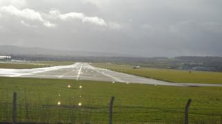 Runway at Hawarden Airport