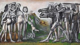 毕加索的作品《朝鲜大屠殺》