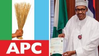 Aarẹ Buhari ati ami idamọ APC
