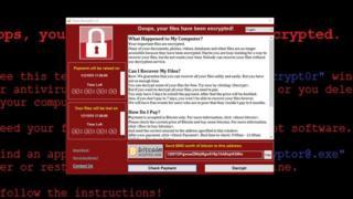 برنامج وانا كراي على جهاز باحث في أمن الإنترنت