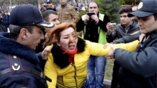 Протест в Азербайджане