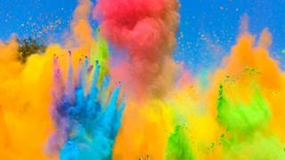 An explosion of colours