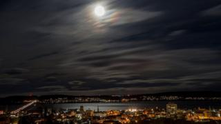 Night sky over Dundee