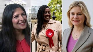 Жаңы депутаттар Прит Гилл, Марша де Кордова жана Жастин Грининг британ парламенти ар кыл катмардан шайланганын көрсөтөт.