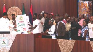 Aarẹ Buhari atawọn asaaju ẹgbẹ akẹkọ