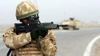 A British soldier in Iraq