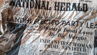 National Herald newspaper uncovered after 54 years under ice in Mont Blanc
