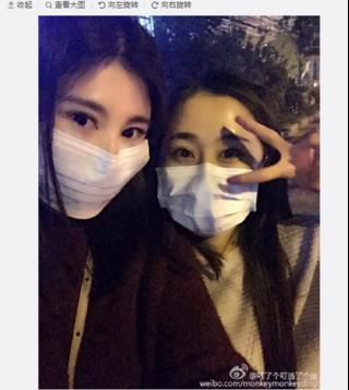 Some Chinese social media users have been posing selfies flaunting masks worn to try to protect themselves from high levels of air pollution