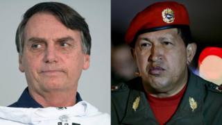 Jair Bolsonaro y Hugo Chávez