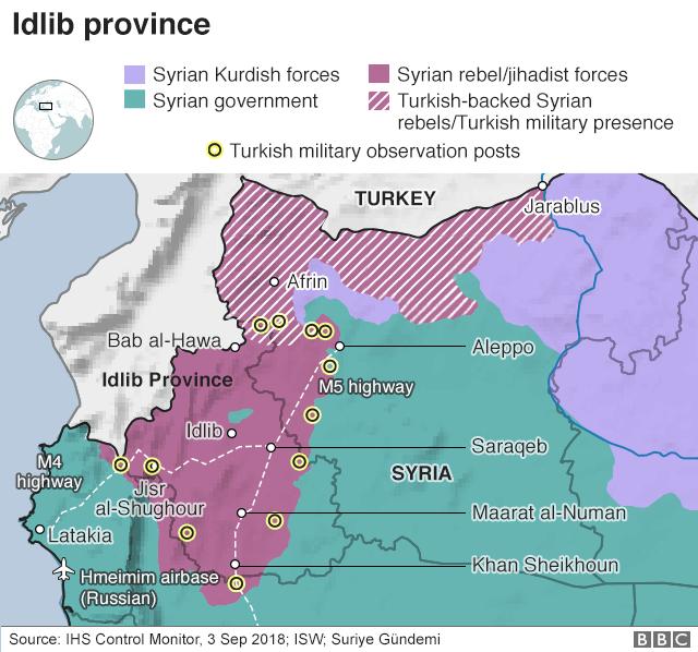 Syria war: Turkey 'reinforces military posts in Idlib'