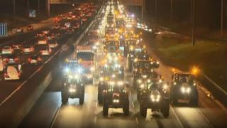 Farmer protest on M50