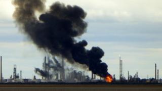 Stanlow refinery fire