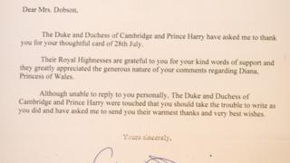 Letter from Duke & Duchess of Cambridge