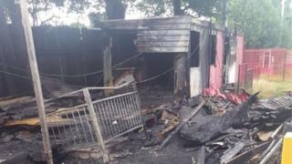 Fire damage at the club