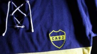 Camiseta retro de Boca.