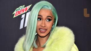 Rapper Cardi B at an event