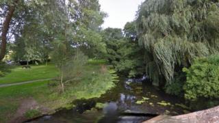River Brett in Hadleigh