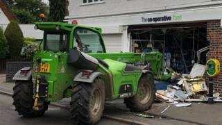 Ram-raid in Scraptoft