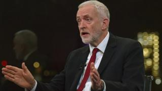 Jeremy Corbyn is interviewed by the BBC's Andrew Neil