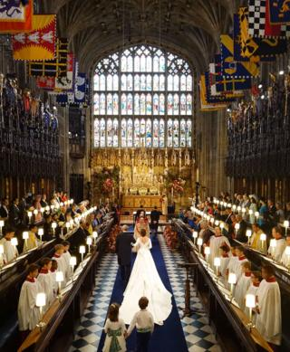 The wedding of Princess Eugenie to Jack Brooksbank at St George's Chapel in Windsor Castle. PRESS ASSOCIATION Photo. Picture date: Friday October 12, 2018. See PA story ROYAL Wedding.