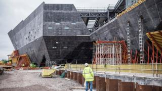 V&A Dundee construction