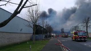 Fire at Northolt industrial estate