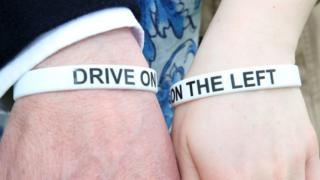 Drive on the left wristbands