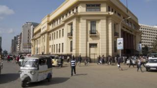 Dans le centre-ville de Nairobi