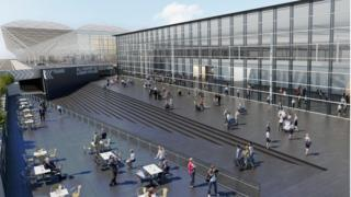 Stansted new terminal CGI