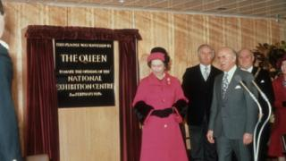 The Queen opening the NEC in 1976