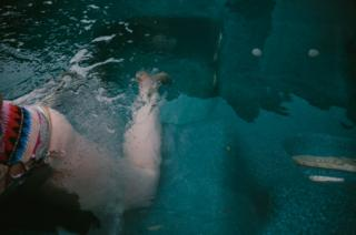 Melanie Semple's hot tub