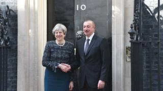 Prezident İlham Əliyev və Britaniyanın baş naziri Theresa May