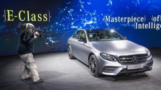 Mercedes E-Class at the Detroit motor show