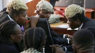 in_pictures Defence lawyers in a federal high court in Lagos, Nigeria - Tuesday 3 March 2020