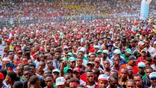 Supporters of Nigerian President Muhammadu Buhari at a rally in Port Harcourt. Photo: 12 February 2019