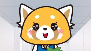 Aggretsuko, a cute little red panda office worker in Japan