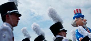 Оркестр на параде в Вашингтоне