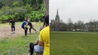 Football in Peru and Parker's Piece in Cambridge