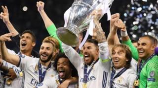 Real Madrid thắng Juventus 4-1 giành chức vô địch Champions League mùa bóng trước.