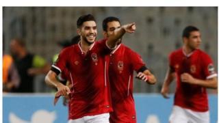 Walid Azarou a marqué trois des six buts d'Al Ahly, contre le WAC de Casablanca.