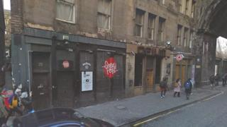 Sneaky Pete's club in the Cowgate