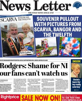 The News Letter front page