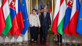 Премьер-министры стран Вышеградской группы