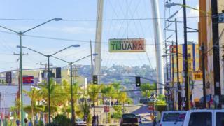 La calle Revolución de Tijuana